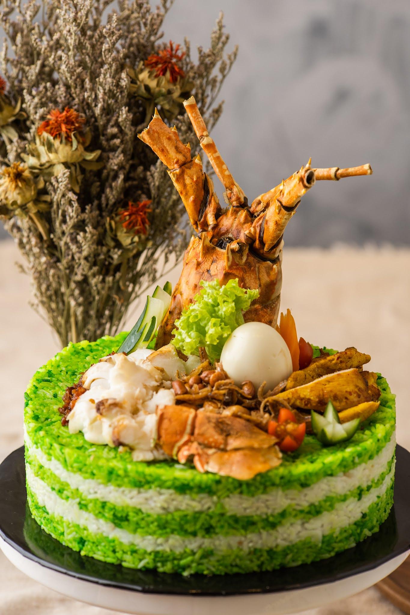 Perfect Match Catering: Unique savoury cakes, inspired by Malaysian favourites like nasi kerabu & briyani