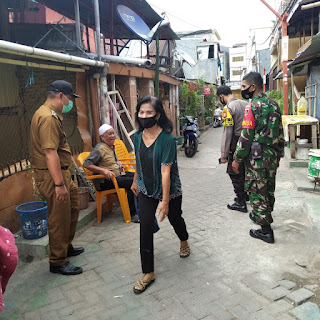 Jaga Kamtibmas Kondusif, Polres Pelabuhan Bersama Tiga Pilar Totaka Berikan Imbauan