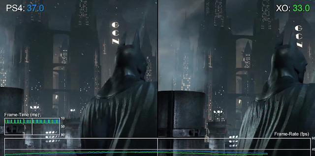 Test de frame rate: Batman Return to Arkham- PS4-ONE