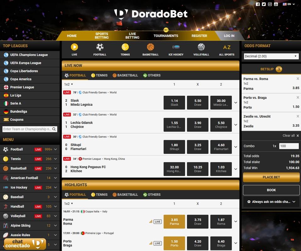 DoradoBet Screen