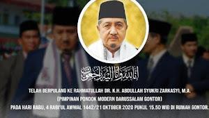 Pimpinan Gontor, Dr KH Abdullah Syukri Zarkasyi Wafat