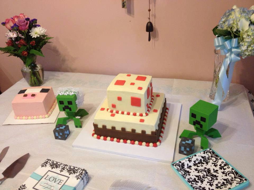 minecraft wedding cake the minecraft castle minecraft birthday cakes 17387
