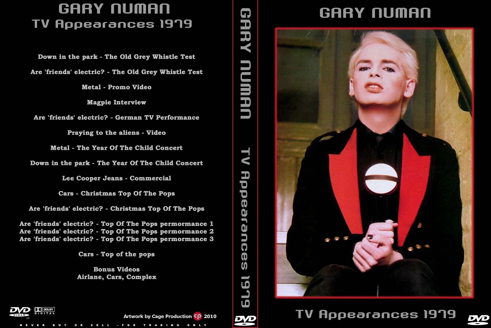 Music Tv And Video Archives Gary Numan On Dvd