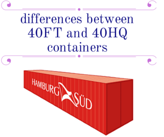 What are the main differences between 40FT and 40HQ