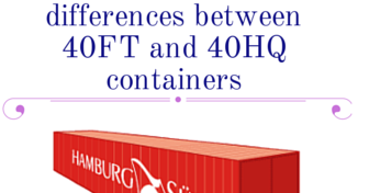 What are the main differences between 40FT and 40HQ containers