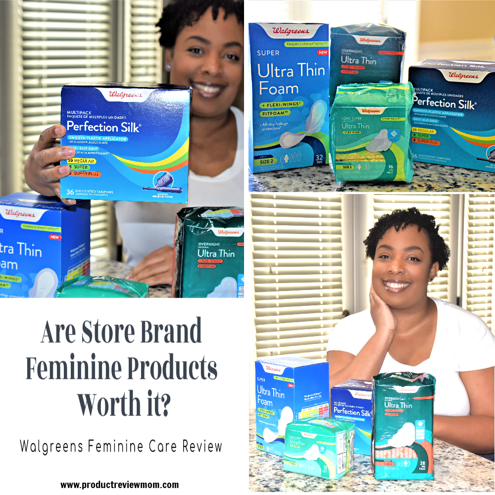 Are Store Brand Feminine Products Worth it?  Walgreens Feminine Care Review