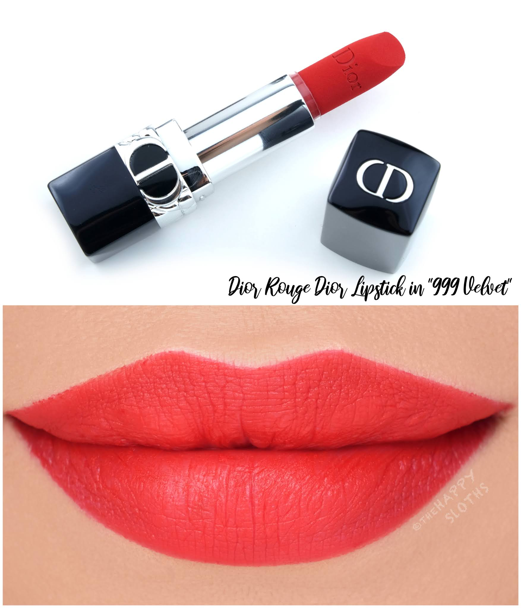 Dior | *NEW* Rouge Dior Refillable Lipstick in 999 Velvet: Review and Swatches