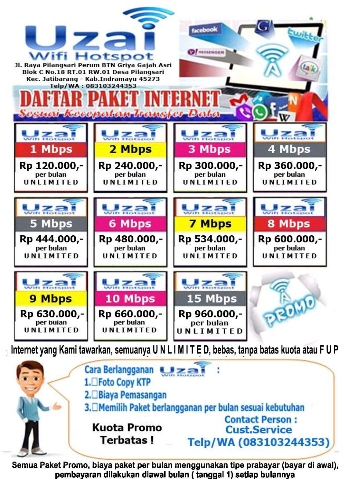 Paket Internet Wifi Unlimited Tahun 2019 Uzai Wifi Hotspot