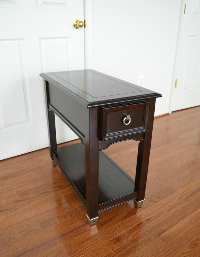 Old dark brown end tables