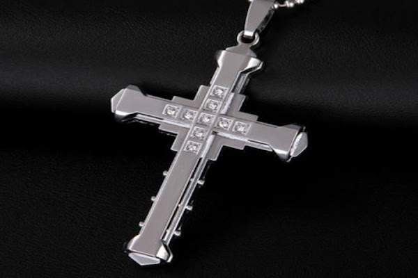 kalung salib bahan perak murah