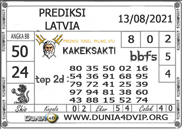 Prediksi Togel LATVIA DUNIA4D 13 AGUSTUS 2021