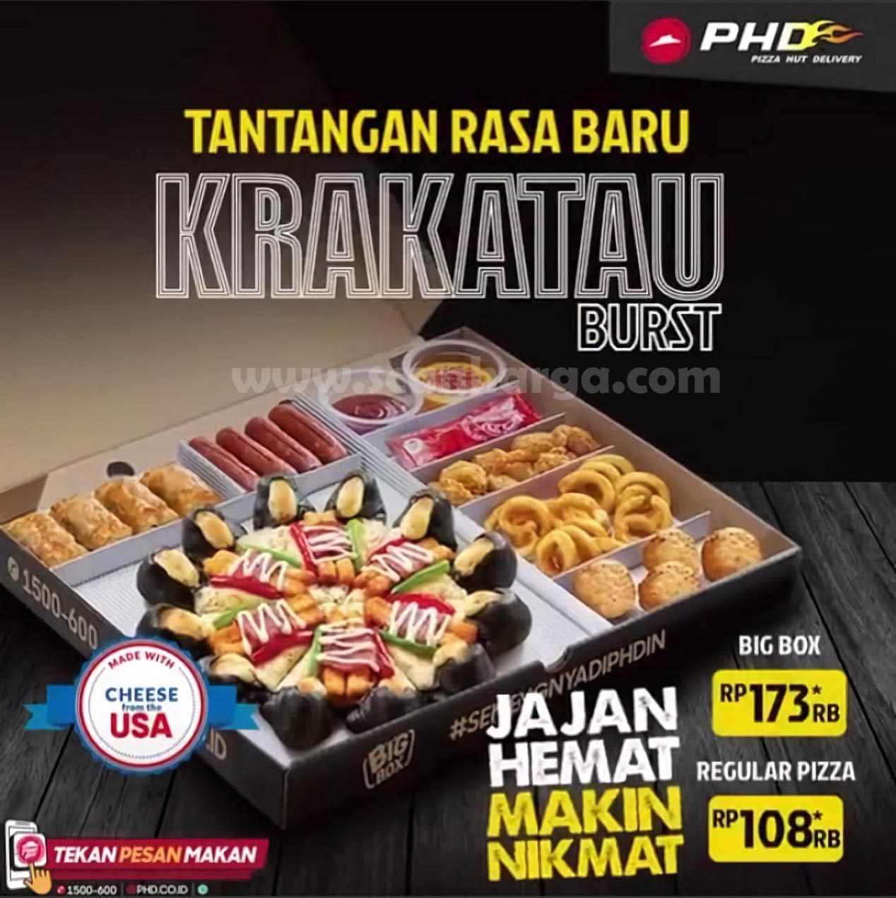 Pizza Hut Delivery [PHD] Krakatau Burst - harga Big Box Rp 173*Rb & Reguler mulai Rp 108*rb