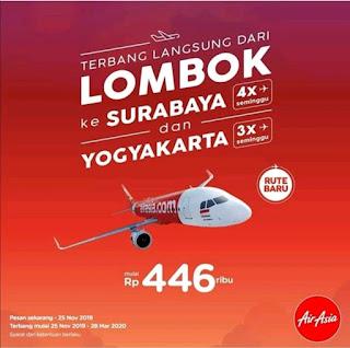 Kabar Gembira, Air Asia Tambah Rute Penerbangan ke Lombok