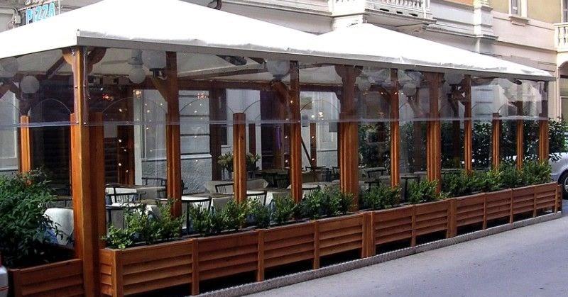 Dehor tra arredo urbano ed utilit per bar e ristoranti for Arredi esterni per bar e ristoranti