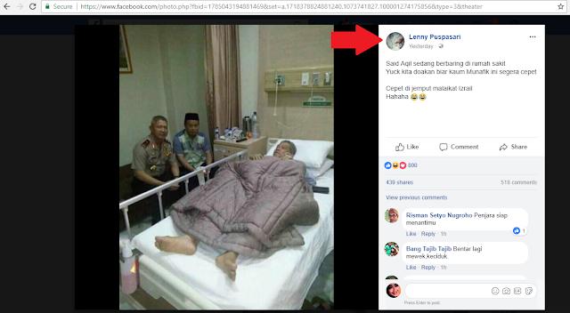 Bikin Geram, Akun Alumni 212 Ini Tahu Ulama Sakit Malah Didoakan Jahat, Netizen: Muslim kok Ngomongnya Nggak Punya Adab...