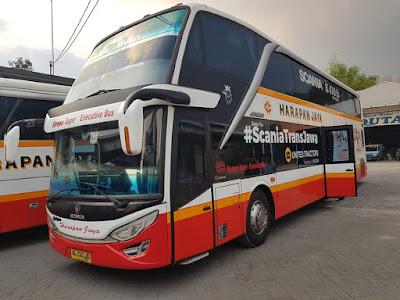 Foto Bus Harapan Jaya Tingkat Sleeper