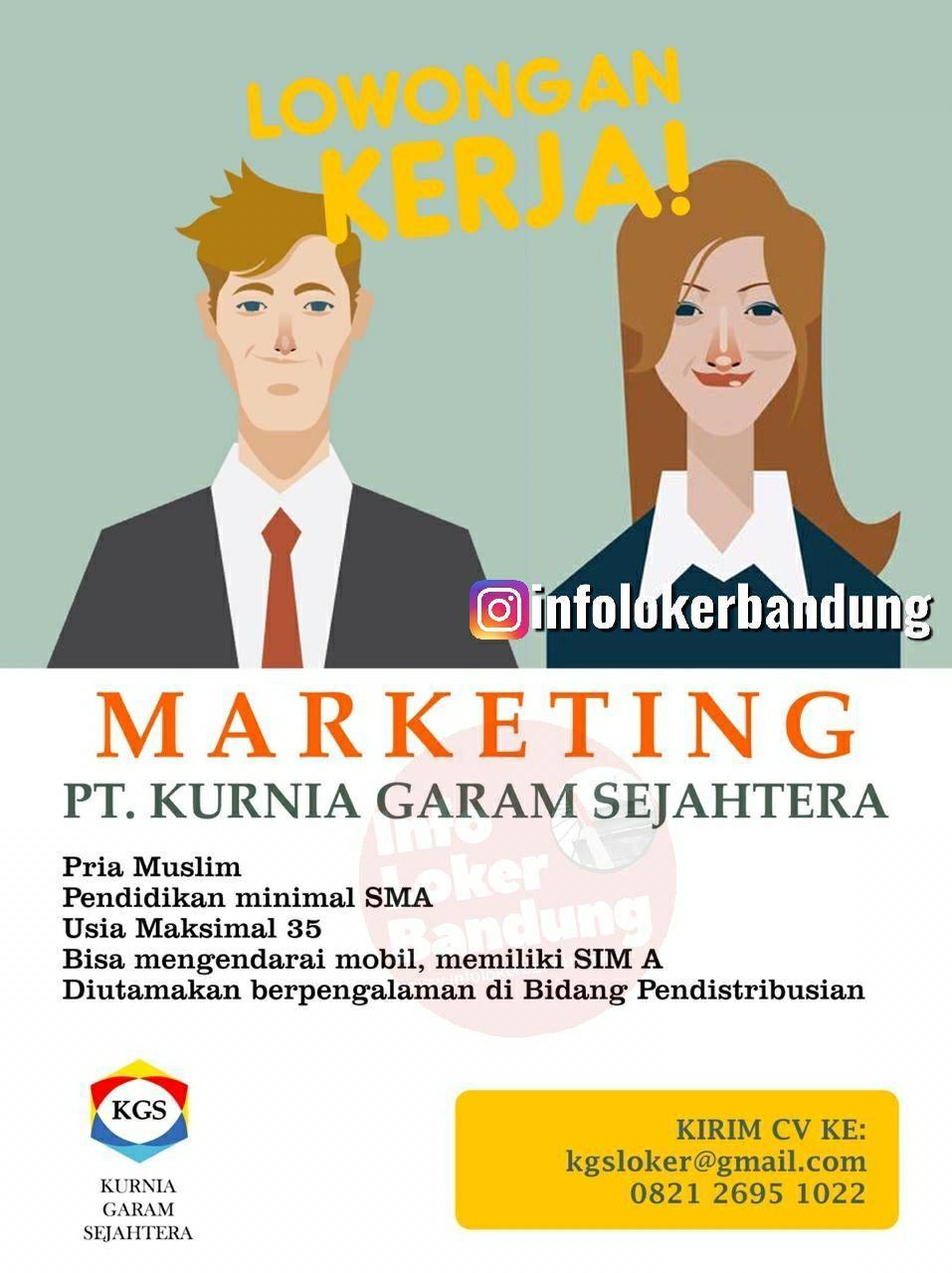 Lowongan Kerja PT. Kurnia Garam Sejahtera Bandung September 2019