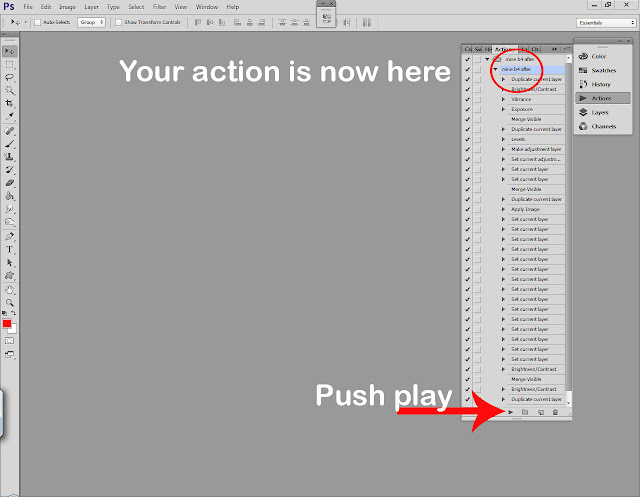 Photoshop actions tutorial step 6