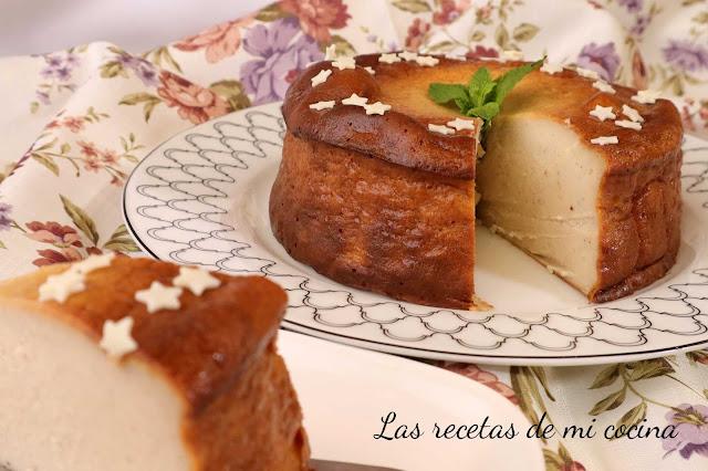 Tarta de Queso, leche condensada y Plátano
