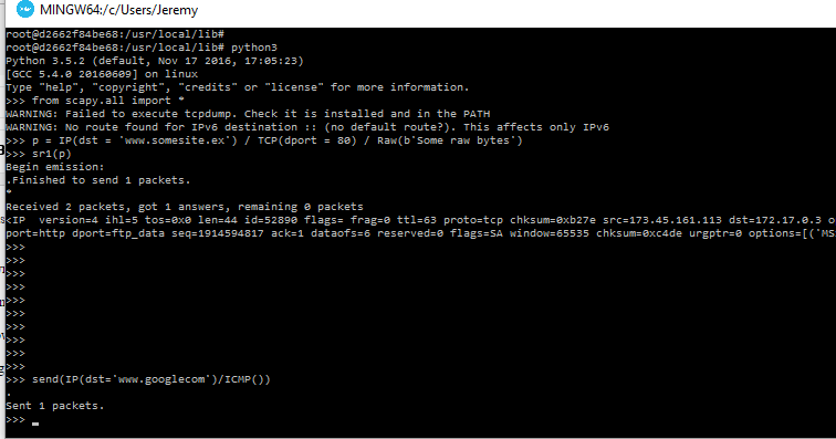 Setting up Scapy for Python 3