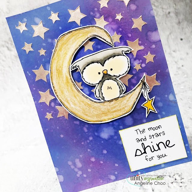 ScrappyScrappy: Unity Stamp Brown Thursday 2019 -Starry Galaxy Background #scrappyscrappy #unitystampco #card #cardmaking #stamping #papercraft #youtube #quicktipvideo #unitystampbrownthursday #brownthursday #timholtz #distressoxideinks #stencilpal #starstencil #starrygalaxybackground #galaxy #starrynight #owlandthemoon #copicmarkers #metallixgel #thermoweb #decofoilmetallixgel #embossingpaste