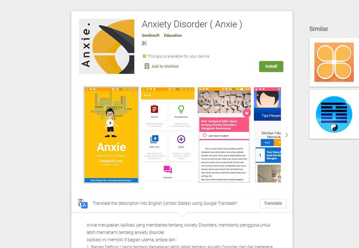 Aplikasi Anxiety Genbisoft