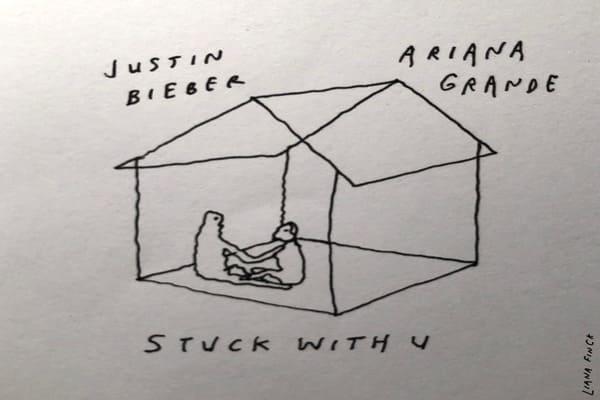 Lirik Lagu Ariana Grande feat. Justin Bieber Stuck With U dan Terjemahan
