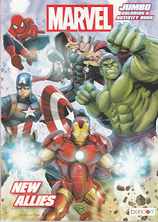 Front Cover of Marvel Jumbo Coloring & Activity Book: New Allies