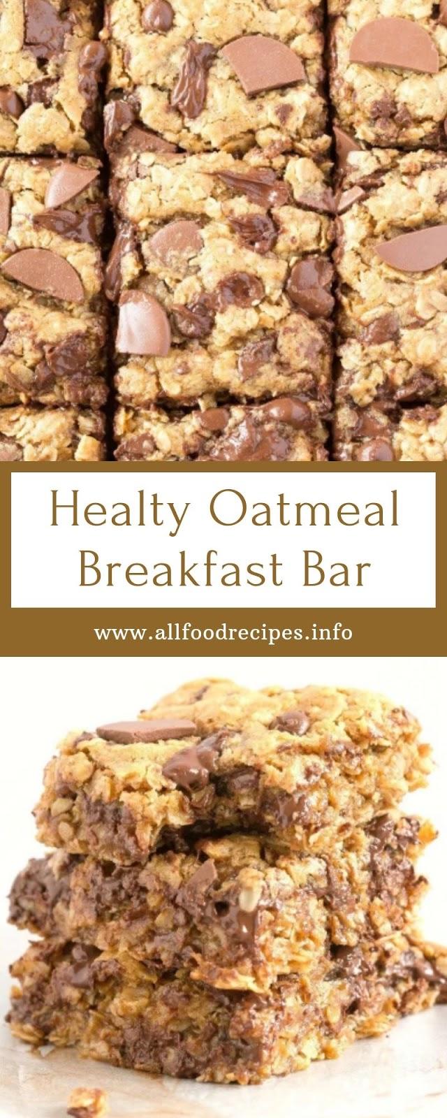 Healty Oatmeal Breakfast Bar