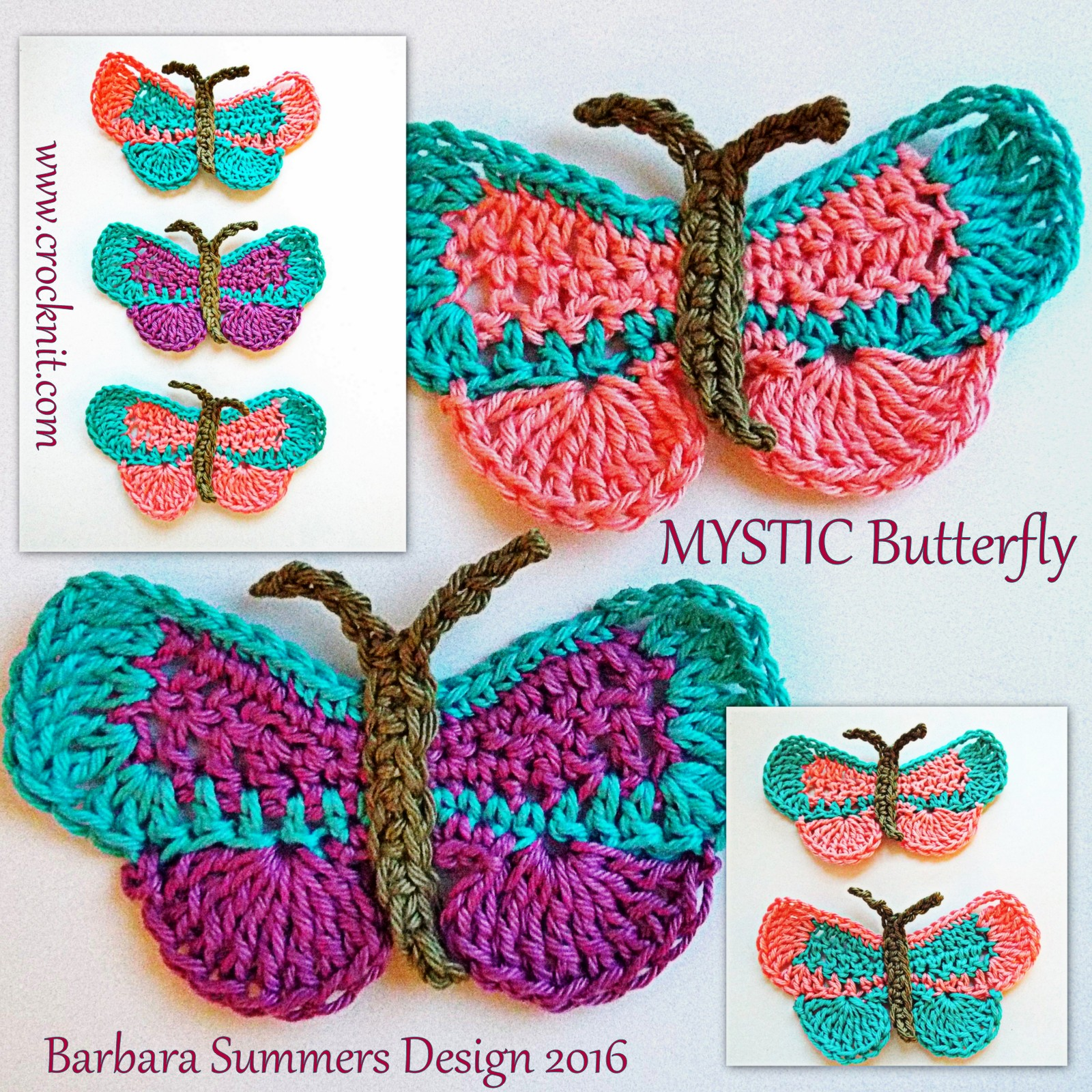 MICROCKNIT CREATIONS: MYSTIC Butterfly Crochet Pattern
