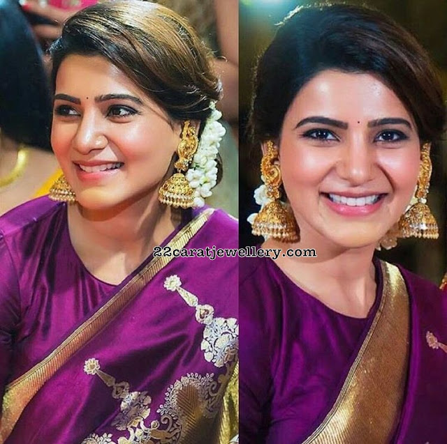 Samantha Akkineni Temple Jewellery