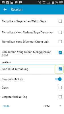 cara mematikan aplikasi bbm