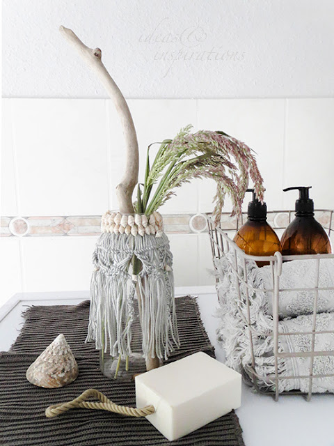 Macrame Vase for your bathroom