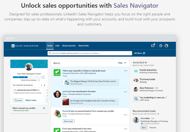 Sales Navigator for Advanced email lookup, For Reverse Email Lookup and search