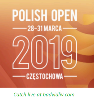 Polish Open 2019 live streaming