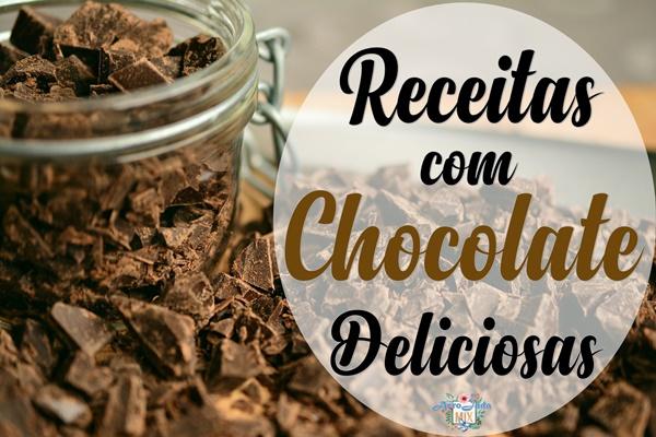 Receita 3 em 1:  Bolo de Chocolate, Brownie e Petit Gateau