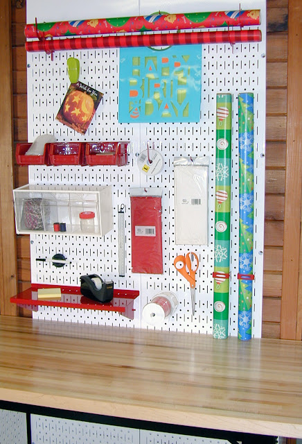 Wrapping Station Pegboard