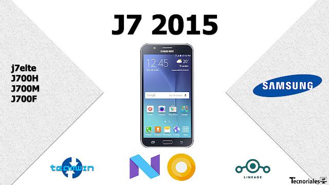 J7 2015 update nougat actualizar custom rom j7elte