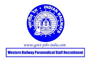 Western Railway Paramedical Staff Recruitment 2020