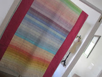 Kona rainbow jelly roll quilt