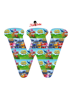 Abecedario de Super Wings. Super Wings Alphabet.