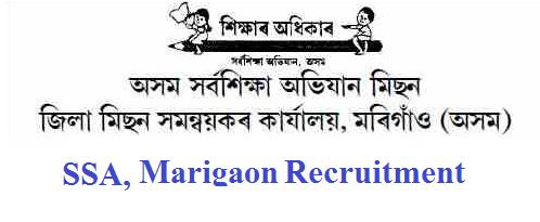 Axom Sarba Siksha Abhijan (SSA), Marigaon Recruitment 2019