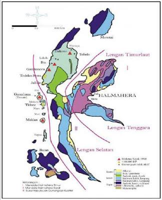 Peta Fisiografi Pulau Halmahera
