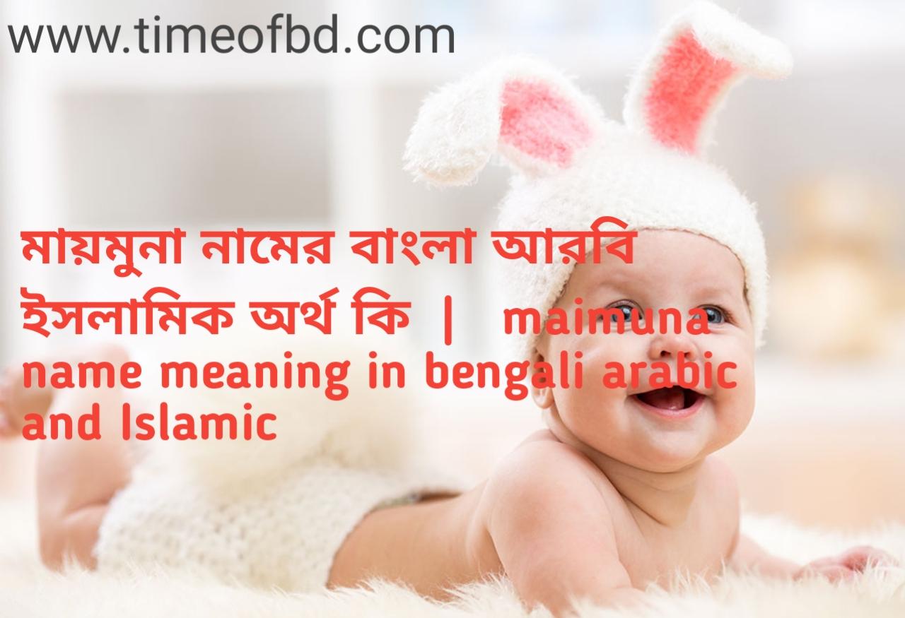 মায়মুনা নামের অর্থ কী, মায়মুনা নামের বাংলা অর্থ কি, মায়মুনা নামের ইসলামিক অর্থ কি, maimuna name meaning in bengali