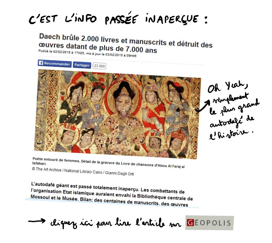 http://geopolis.francetvinfo.fr/daech-brule-2000-livres-et-manuscrits-datant-de-plus-de-7000-ans-52575