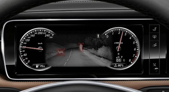Mercedes S500 Cabriolet 2018 được trang bị Hệ thống hỗ trợ quan sát ban đêm Night View Assist Plus