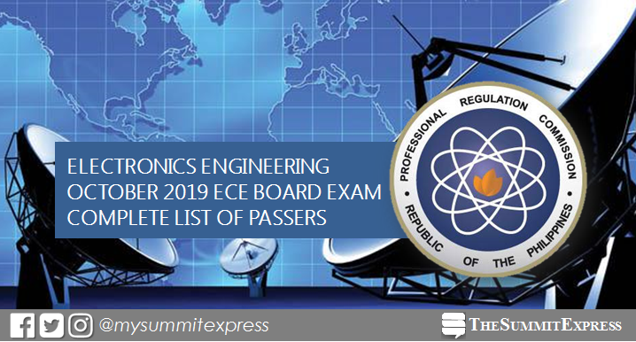 FULL RESULTS: October 2019 Electronics Engineer ECE board exam list of passers