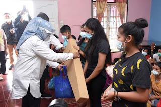 Baksos Jelang Natal ke Panti Asuhan, Nawal Berpesan Tetap Bersuka Cita di Tengah Pandemi