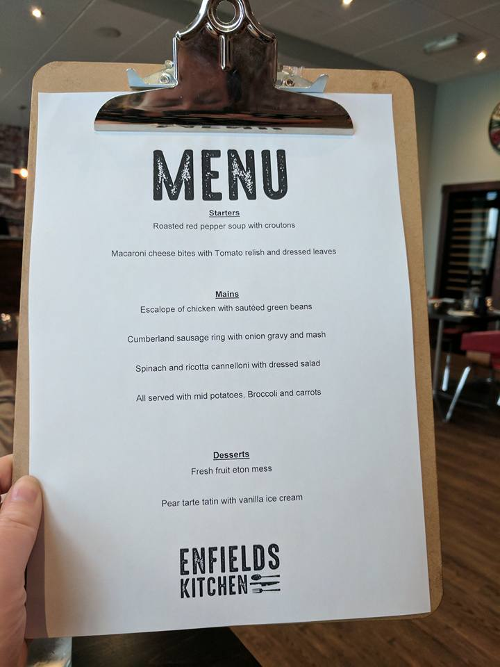 Enfields Kitchen - Gateshead College | Enjoy a delicious 3 course lunch for just £6 - menu