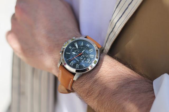 fossil orologio cinturino in pelle